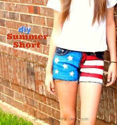 DIY Summer Patriotic Short Tutorial