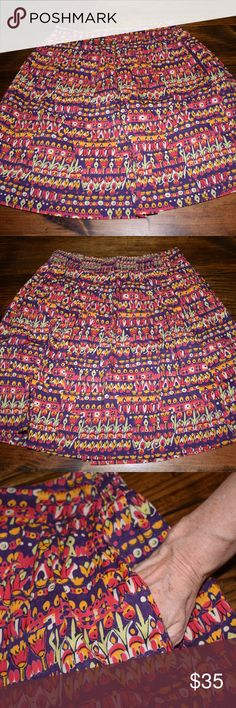 NWOT Anthropologie Edme & Esyllte Skirt Never worn! Anthrpologie Edme & Esyllte multi color flowy skirt. Has pockets. Great for spring! Excellent condition. Smoke free home. Anthropologie Skirts