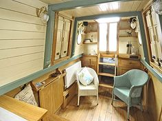 Search ABNB listings to find your boat or leasehold mooring. Barge Boat, Canal Barge, Small Space Living, Tiny Living, Small Spaces, Canal Boat Interior, Boat Pics, Narrowboat Interiors, Floating House