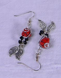 Simulated Red Coral French Hook Earrings