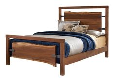 Amish Westmere Bed with Live Edge Slabs A live edge beauty, the Amish Westmere Bed with Live Edge Slabs is a centerpiece for a rustic bedroom suite. The Westmere makes a great candidate for the contemporary too. Amish bed made in America. Wood Bedroom, Bedroom Bed, Bedroom Furniture, Bedroom Ideas, Master Bedroom, Master Suite, Furniture Ideas, Bedroom Decor, Live Edge Furniture