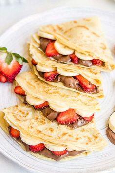 Think Food, Love Food, Breakfast Recipes, Dessert Recipes, Crepe Recipes, Best Crepe Recipe, Breakfast Ideas, Romantic Breakfast, Breakfast Pictures
