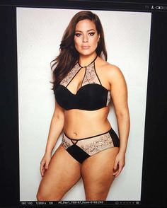 Straight from the screen @additionelle #ashleygrahamlingerie