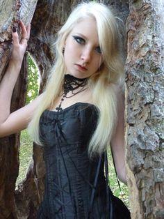 Goth stock photo by MariaAmanda on DeviantArt Goth Beauty, Dark Beauty, Maria Amanda, Blonde Goth, Gothic Culture, Gothic Models, Goth Women, Aesthetic People, Instagram Girls