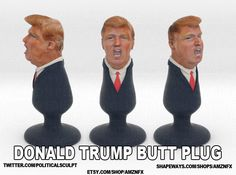 Donald Trump Plug 3d printed, on shapeway........