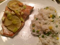 Squirrel Head Manor: Lime and Ginger Salmon with Coconut Rice Ginger Salmon, Coconut Rice, Squirrel, Lime, Friday, Food, Limes, Squirrels, Essen
