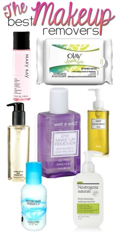 Best Makeup Removers! A whole list of awesome products! #makeup #beauty #beautytips #makeuptips