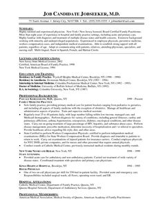 Medical Doctor Curriculum Vitae Example  HttpWwwResumecareer