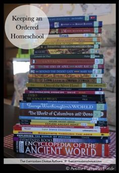 Keeping An Ordered Homeschool - an ULTIMATE list of homeschool organization, planning tips and designing learning spaces from The Curriculum Choice authors