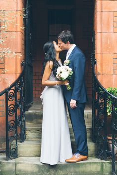Image by Katy & Co - Highstreet Wedding Dress from Coast For An Intimate City Wedding At Brunswick House With Flowers by Gardenia of London And Images From Katy & Co.