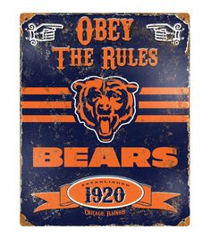 Chicago Bears NFL Vintage Sign