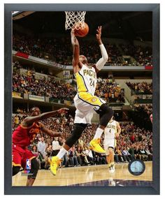 """Paul George 2013-2014 Pacers - 11"""" x 14"""" Photo in a Glassless Sports Frame"""