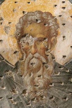 Преподобные, лики: фреска