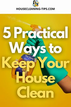 Here are the best ways to stay on top of your house cleaning and keep your house clean - especially when there are a million cleaning tasks to complete. #keepyourhouseclean