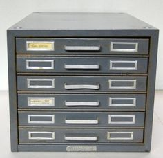 Industrial Steelmaster 6 Drawer Flat File Cabinet by C3L35T3, $50.00