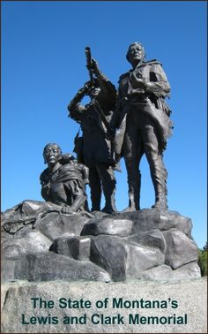 The State of Montana's Lewis and Clark Memorial located at Decision Point. Lewis And Clark Trail, Missouri River, Old Fort, Thomas Jefferson, Pacific Ocean, Monuments, Pageant, Statues, Places To See
