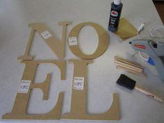 {DIY Tutorial} Pottery Barn Noel Sign Knock Off