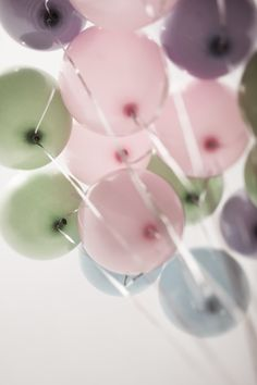 coloredl balloons Art Print