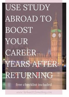 Even if it's been months or years after you've studied abroad, there are so many ways you can continue reaping the benefits from it! Click through to learn 6 creative ways to use your semester abroad to boost your career today! Free checklist included.