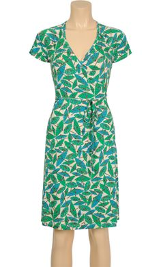 Vintage inspired summer dress in green parasol print - King Louie SS2014