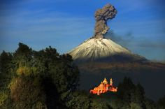 Popocatepetl Valcano, Mexico, on of the most active volcanoes in Mexico. the name means smoking mountain.