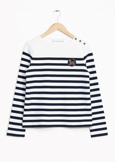 & Other Stories | Striped Emblem Sweater