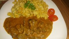 Vadnyúl paprikásan Grains, Curry, Rice, Ethnic Recipes, Food, Red Peppers, Kalay, Curries, Meals