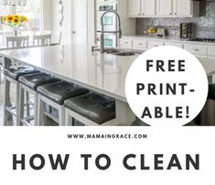 How to Clean Your Kitchen: Simple & Easy Seam – Knitting Cleaning Checklist, Cleaning Hacks, Shark Steam Mop, Expired Food, Big Bottle, Drain Cleaner, Window Cleaner, Baseboards, Free Prints