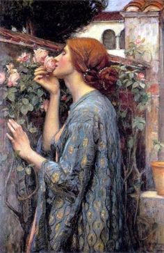 """The Soul of the Rose"" aka ""My Sweet Rose"". (1908). (by John William Waterhouse)."