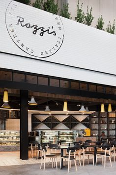 Restaurant Interior Design   Food Courts   Fast Food Design   Rozzi's Italian Canteen by Mim Design // Melbourne.
