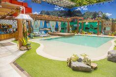Piscina praia do Programa Big Brother Brasil 18 foi revestida com a Linha Beaches da Cristal Pool