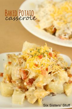 Baked Potato Casserole from SixSistersStuff.com
