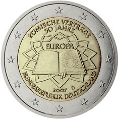 Monedas 2 € conmemorativas - Tratado de Roma 2007 - Alemania 2 euros 2007 Tratado de Roma (5 cecas)