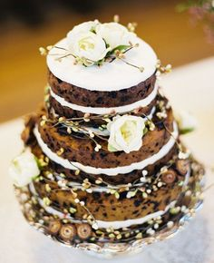 Rustic Wedding Ideas - Naked Wedding Cakes
