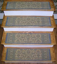 Elegant 175629 Rug Depot Carpet Stair Treads Set Of 13 Treads 31 X 9 Beige  Background 100 Polypropelene Carpet Stair Runner Treads Casual Oriental 15  Million Points ...