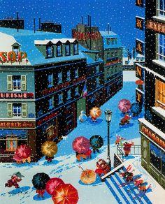 "HIRO #YAMAGATA  ""Four Seasons, Winter"" (1987) #painting #snow #art #fineart #followart #iloveart  #winter  #colors"