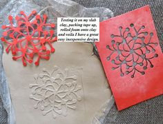The positive can be used as a stamp, or as an element in card making or collage work.  The negative backed with packing tape cam be used for amazing impressions like bas relief on clay
