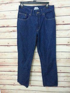 L.L. Bean jeans original fit high waist straight leg womens size 8 R dark wash #LLBean #StraightLeg