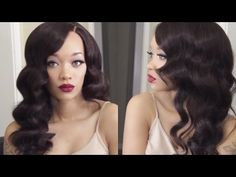 HAIR | Old Hollywood Waves Tutorial | EV Beauty Curling Wand - YouTube