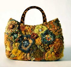 floral freeform handbag by freeform by prudence, via Flickr