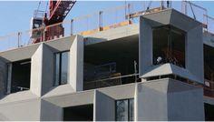 Precast concrete façade panels at Burntwood School