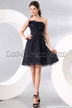 1st-dress.com Offers High Quality Navy Strapless Knee Length Homecoming Dress,Priced At Only US$120.00 (Free Shipping)