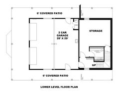 House Plan 85222 - Contemporary Style House Plan with 2025 Sq Ft, 2 Bed, 2 Bath, 2 Car Garage Carriage House Plans, Barn House Plans, Country House Plans, House Floor Plans, Contemporary House Plans, Contemporary Style Homes, Patio Railing, Elevation Plan, House Front Door