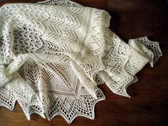 Lightweight Mountain peaks shawl by Miriam Felton  Ravelry project by brineydeep4