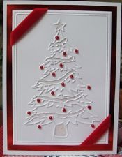 Christmas Tree Embossing Folder by Darice for All Standard Machines