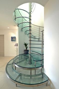 Use these awesome spiral staircase in your home. Over thirty spiral staircase ideas you can implement in your design. Feed your design ideas now. Glass Stairs Design, Spiral Stairs Design, Railing Design, Staircase Design, Staircase Ideas, Stair Design, Spiral Staircase For Sale, Spiral Staircases, Staircase Architecture