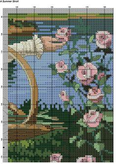 Летняя прогулка Counted Cross Stitch Patterns, Cross Stitch Designs, Cross Stitch Embroidery, Hand Embroidery, Cross Stitch Pictures, Cross Stitch Flowers, Plastic Canvas Patterns, Small Flowers, Cross Stitching