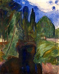Park Landscape Edvard Munch - 1906