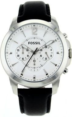Fossil Men's FS4647 Stainless Steel Analog Silver Dial Watch < $89.00 > Fossil Watch Men