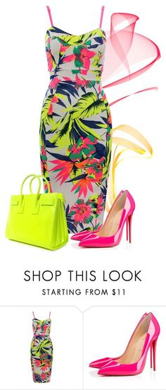 """summer mood"" by sonies-world ❤ liked on Polyvore featuring Christian Louboutin and Yves Saint Laurent"